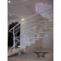 Металоконструкція сходів з перилами