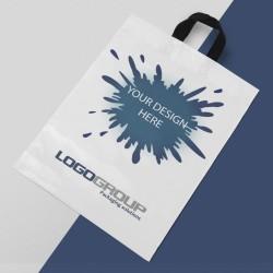 Виробництво упаковки. Пакети з петлевою ручкою з логотипом. Опт.