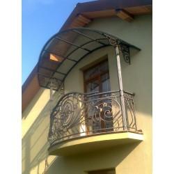 Кований дашок та огорожа балкону